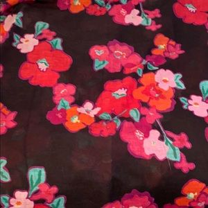 Black Lilly Pulitzer floral scarf